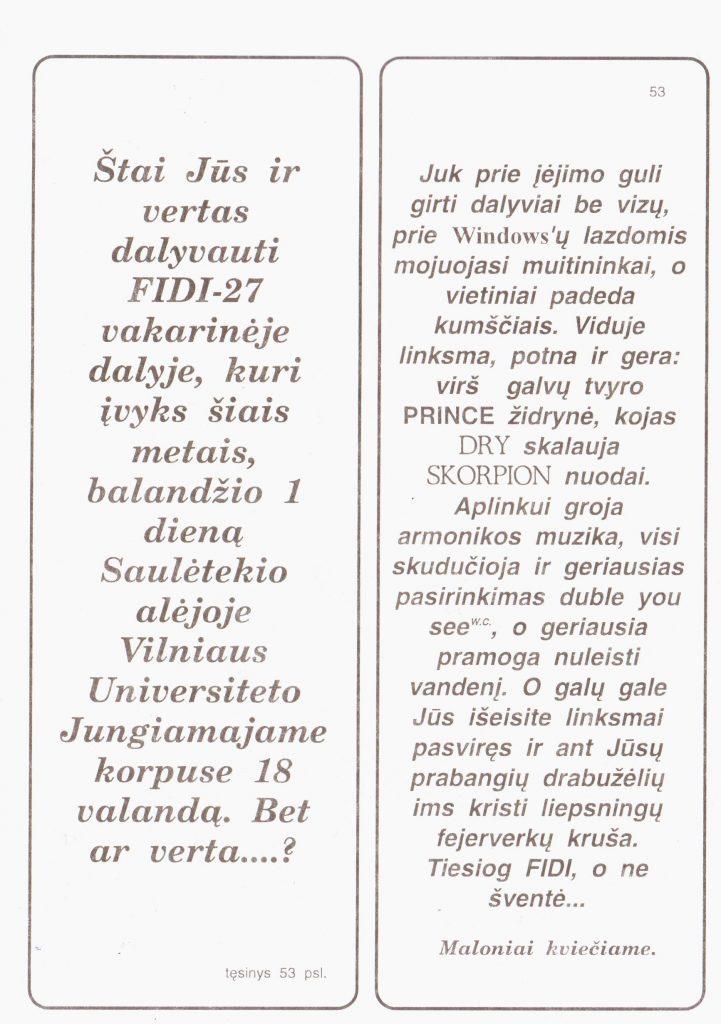 Kvietimas. FiDi#27