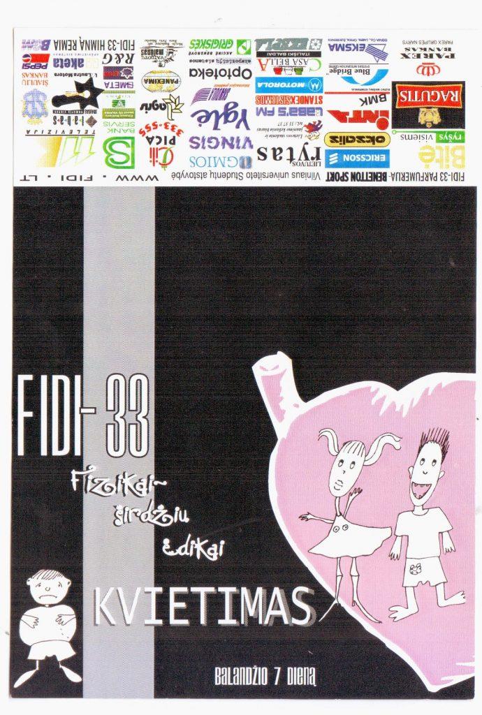 Kvietimas. FiDi#33