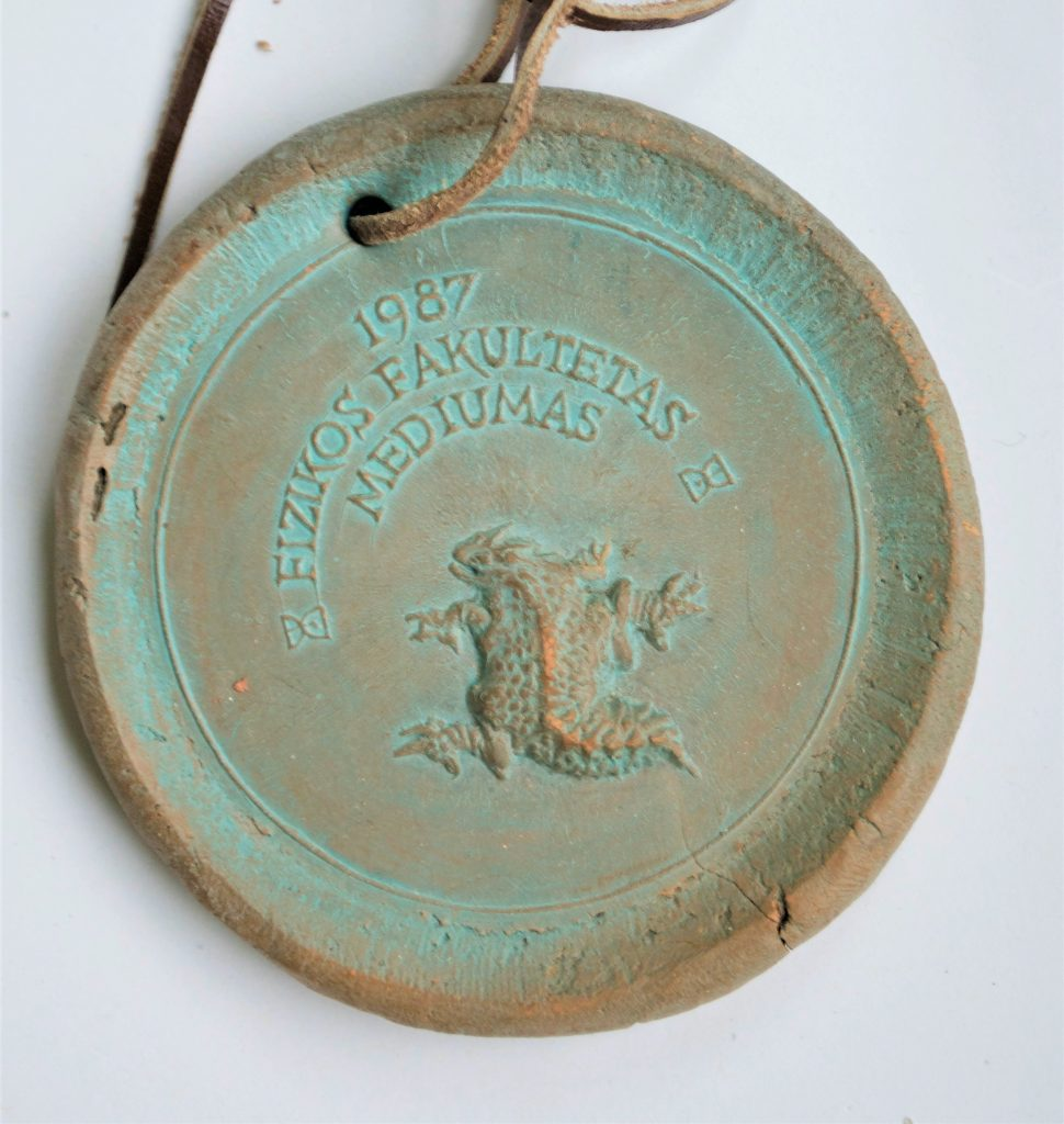 Fizikos fakulteto Mediumas. Medalis. 1987 m.